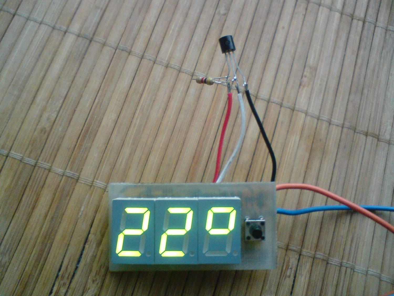 Простой цифровой термометр своими руками / Geektimes 37